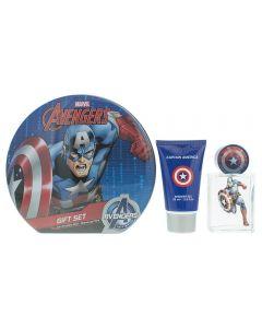 Marvel Captain America Eau de Toilette 3 Pieces Gift Set