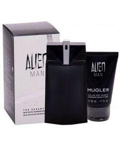 Thierry Mugler Alien Man 100ml Refillable EDT Spray / 50ml Shower Gel