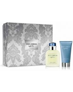 Dolce & Gabbana Light Blue Pour Homme 75ml EDT Spray / 75ml Aftershave Balm