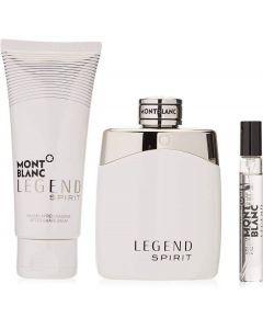 Montblanc Legend Spirit 100ml EDT Spray / 100ml Aftershave Balm / 7.5ml EDT...