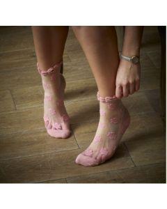 Pink Rose Socks